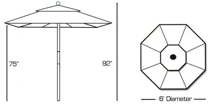 Galte 211 patio umbrella specs