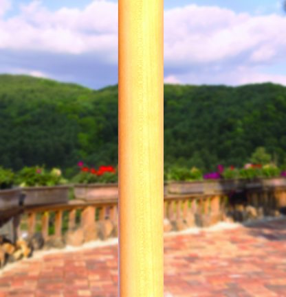 Light wood finish on Galtech 121 7.5′ Deluxe Round Light Wood Umbrella