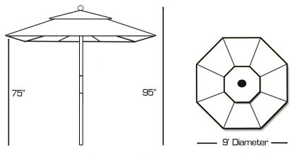 Specs for Galtech 131 Round Patio Umbrella