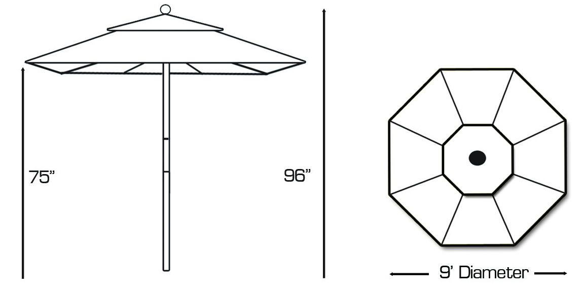 Galtech 132 Patio Umbrella