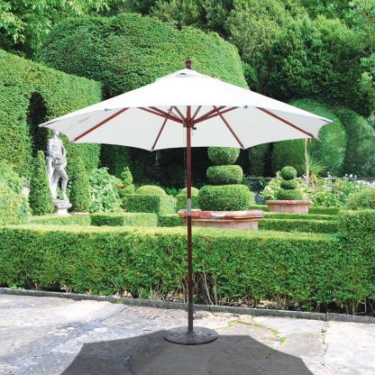Galtech 132-232 light wood 9 foot round umbrella