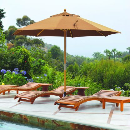 Galtech 183 11′ Round Quad Pulley Patio Umbrella