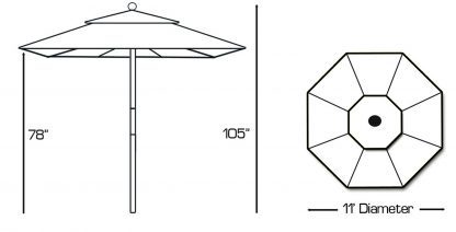 Galtech 183 round patio umbrella