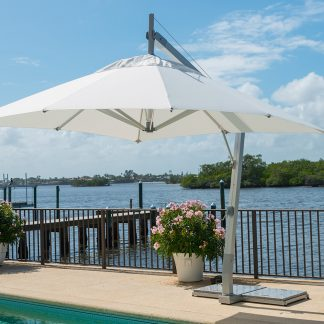 Hurricane Side Wind Aluminum Patio Umbrella