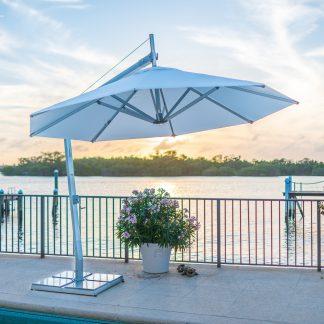 Bambrella Santa Ana Side Wind Bambrella Santa Ana Side Wind cantilever Aluminum Umbrellas