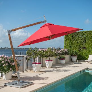 Sirocco Side Wind Offset Market Umbrella