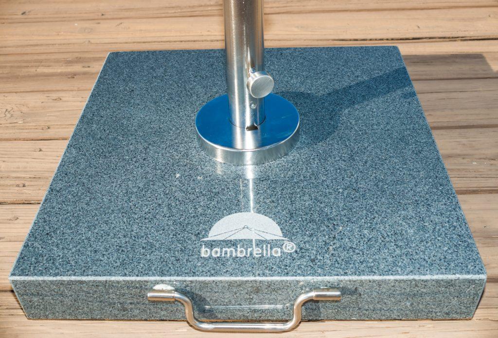 Gray Granite & Stainless Steel Umbrella Base