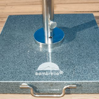 Gray Granite & Stainless Steel Umbrella Base