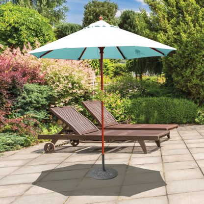 Galtech 221 7.5′ Deluxe Round Dark Wood Umbrella