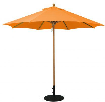 Galtech 532 9' Deluxe Round Teak Wood Umbrella