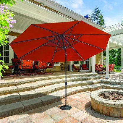 Galtech 779 8.5'x11′ Oval Deluxe Auto Tilt Umbrella