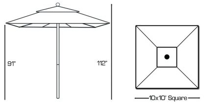 Galtech 792 Square Patio Umbrella