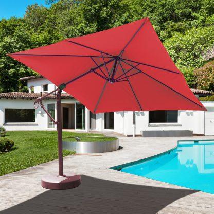 Galtech 897 10′ x 10′ Cantilever (Offset) Aluminum Square Umbrella