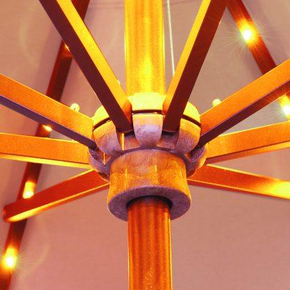 Hub on Galtech | 936 9′ Round Deluxe Auto Tilt Umbrella LED Lighted