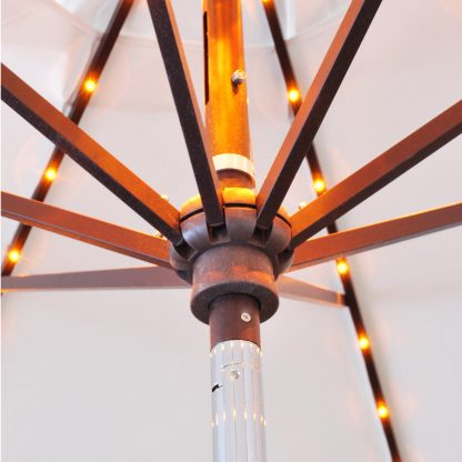 Hub on Galtech 986 11′ Round Deluxe Auto Tilt Umbrella LED Lighted