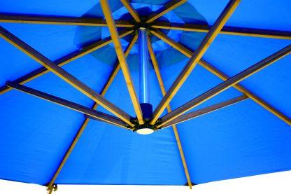 Bambrella Sirocco Bamboo Sidewind Offset Patio Umbrella