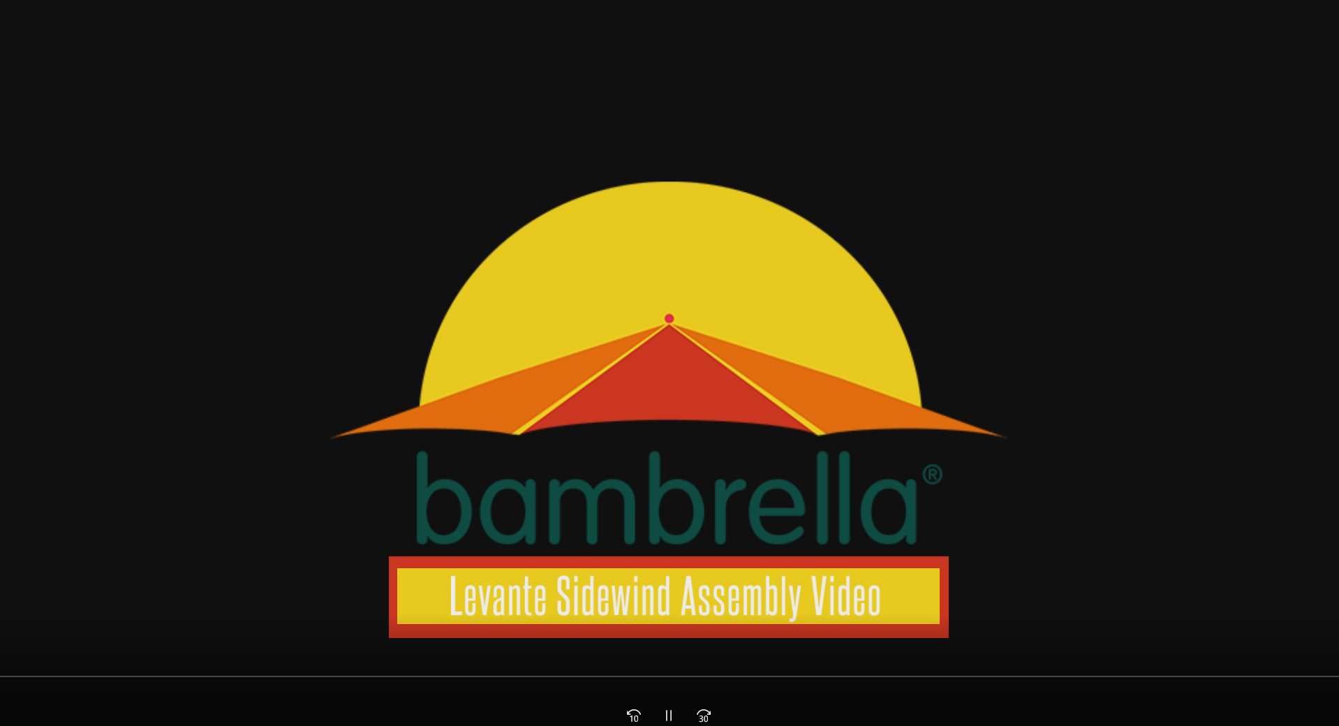 How to build a Bambrella Levante Umbrella