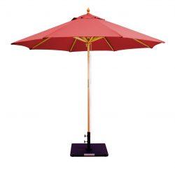 Galtech 232 9' Deluxe Dark Wood Umbrella