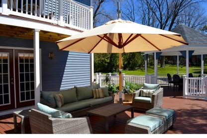 Bambrella Levante Side Wind Patio Umbrella